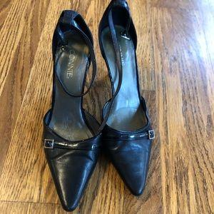 Pointy toe buckle heels
